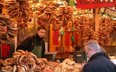 Christmas Market Food Stall
