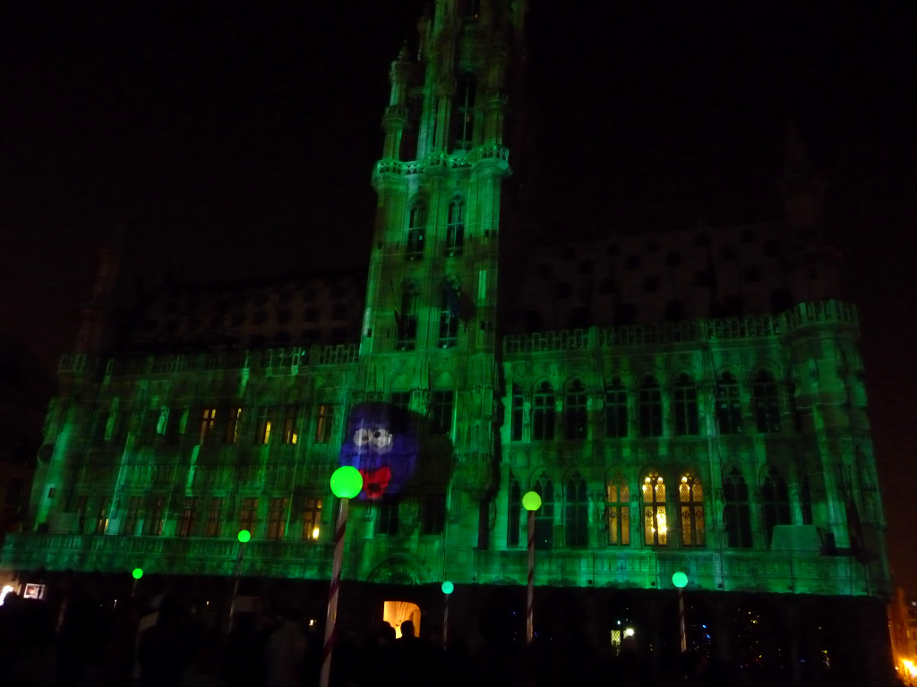 Light show at Grand Place